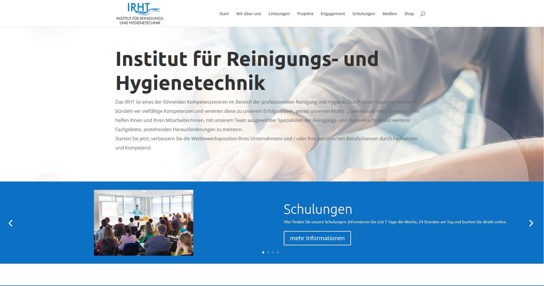 Webseite für Institut für Reinigungs- und Hygienetechnik in Freiburg.